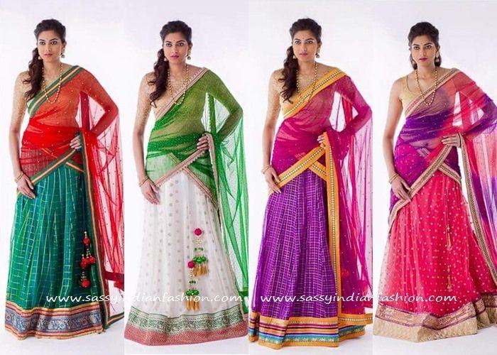 Bhargavi Kunam Bridal Half Saree Designs