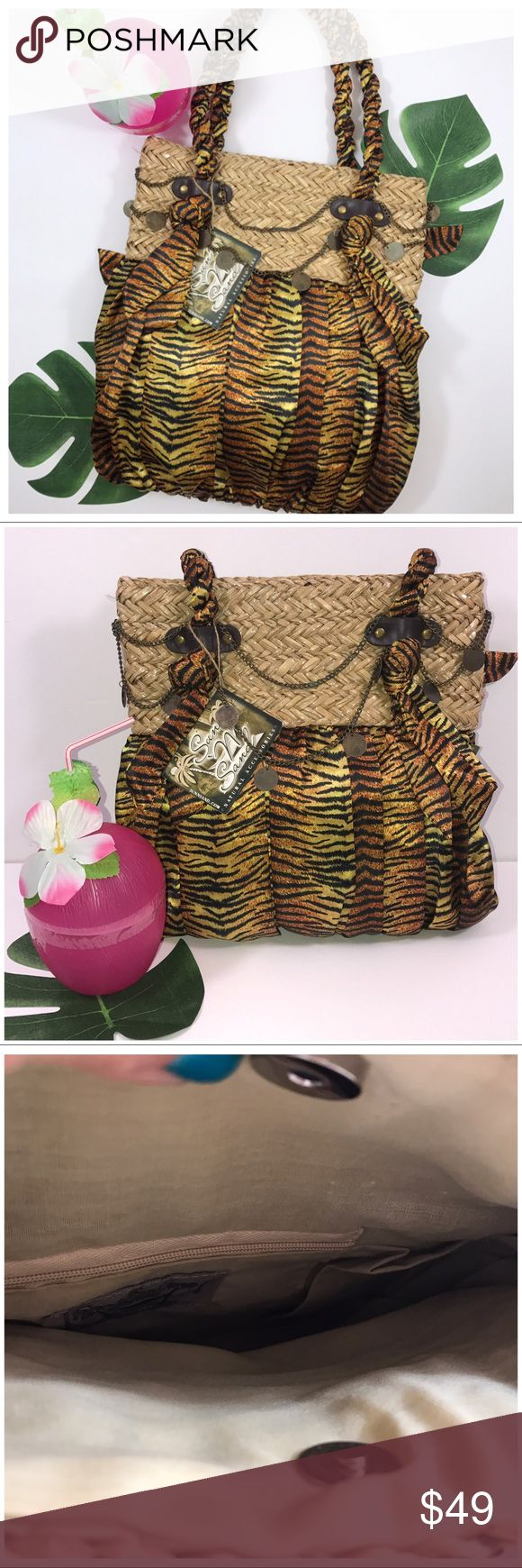 Sun & Sand Vacation dreamer Beaches and parties are calling ladies, make sure you are arm candy summer rocking!. This beauty will fly, I'm SO close to keeping it (arg) posh battle (smirk). Tassels, wicker and sultry print! Yes yes and OH yes. Sun n Sand Bags Totes