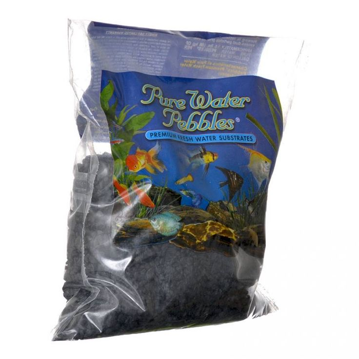 🐠 2lb Pure Water Pebbles Aquarium Gravel Jet Black is a natural freshwater aquarium gravel substrate. Fish-safe 100% acrylic coating. Non-toxic and colorfast, will not alter aquarium chemistry. Ideal for aquariums, ponds, terrariums, crafts, landscaping and