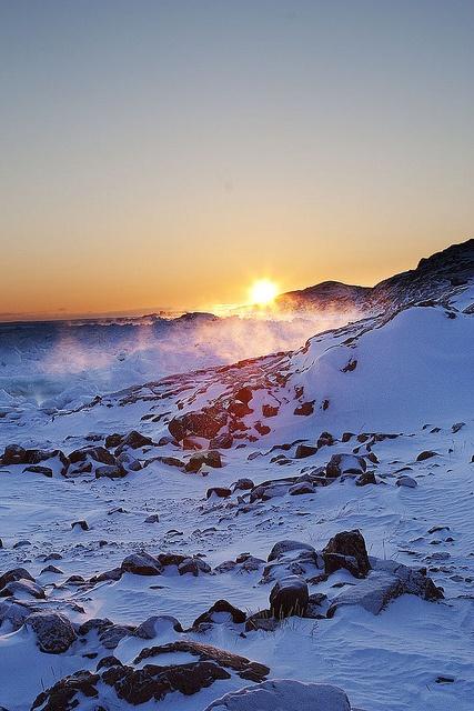 Sunrise along Frobisher Bay - Iqaluit, Nunavut (Canadian Arctic)