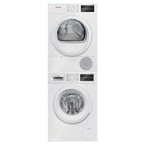 Bosch Front Load Washer and Electric Dryer with Pullout Stacking Kit