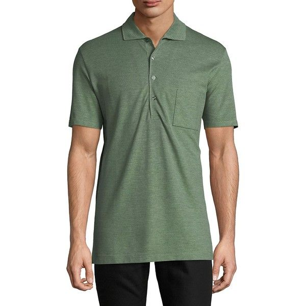 Luciano Barbera Men's Short Sleeve Cotton Polo - Size medium ($180) ❤ liked on Polyvore featuring men's fashion, men's clothing, men's shirts, men's polos, no color, men's cotton polo shirts, mens short sleeve polo shirts, mens short sleeve shirts, men's cotton short sleeve shirts and mens polo collar shirts