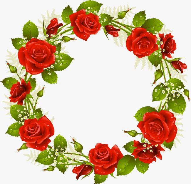 Roseta Corona Rose Flores Rojas Png Y Psd Para Descargar Gratis Pngtree Rose Frame Red Flowers Floral Border Design