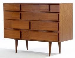 Four-drawer walnut dresser, Gio Ponti, Singer and Sons, c.1950