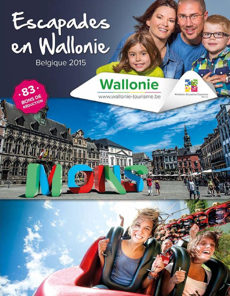 Escapades en Wallonie  Des bons de réduction, des idées et des séjours tout compris, Escapades en Wallonie est la brochure incontournable pour préparer vos vacances, vos week-ends ou vos excursions d'un jour dans le sud de la Belgique. Découvrez tout ce que la Wallonie peut vous offrir !