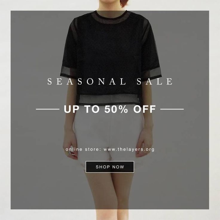 SEASONAL SALE -UP TO 50%OFF-  Shop now: www.thelayers.org