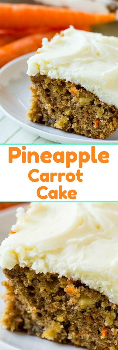Pineapple Carrot Sheet Cake with cream cheese icing. #Easter #carrotcake #pineapple #desserts