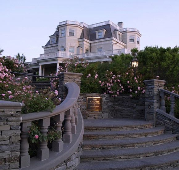 The Chanler in Newport, Rhode Island.  Overlooks the Atlantic ocean and has their own champagne...Spiced Pear. Delicious!