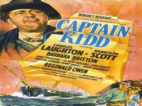 CAPTAIN KIDD (1945) Randolph Scott - Charles Laughton - In 1699, William Kidd, a ruthless pirate who has recently captured the ship The 12 Apostles and killed its crew, presents himself at the court of King William III as an honest shipmaster seeking royal backing. With this backing he recruits a crew from the inmates of Newgate and Marshalsea prisons, promising them a royal pardon at the end of their voyage. About 1-1/2 hours