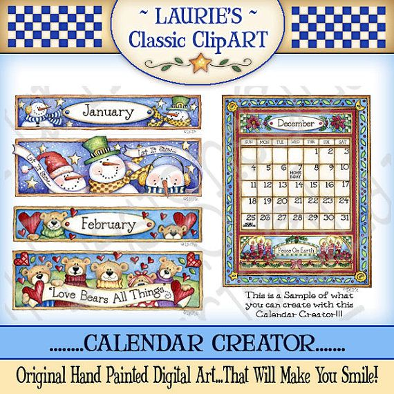 Need a calendar? My friend Laurie Furnell is the way to go! DArling clipart!