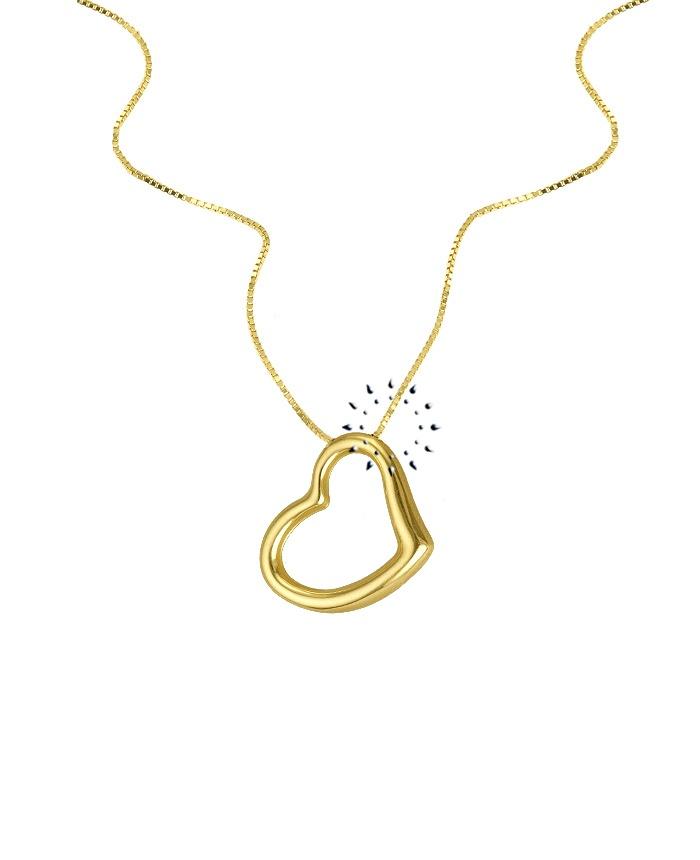 Κολιέ Καρδιά 14Κ Χρυσό  225€  http://www.kosmima.gr/product_info.php?products_id=13255