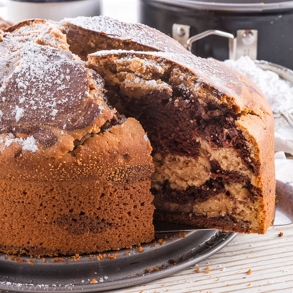 A lovely chocolate marble cake recipe that would go great with a coffee, tea or glass of milk!. Chocolate Marble Cake Recipe from Grandmothers Kitchen.
