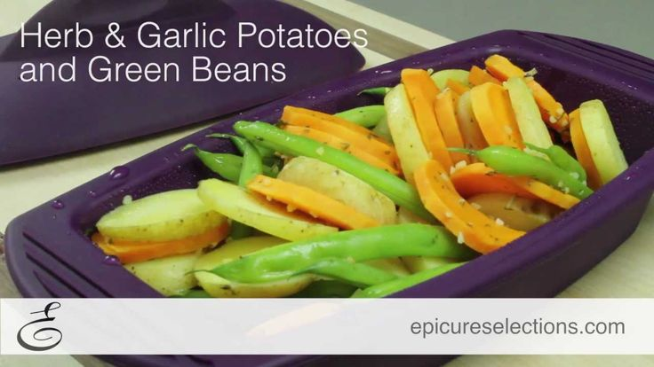 (Video) 8 Minute Side Dish - Steamed Herb & Garlic Potatoes and Green Beans