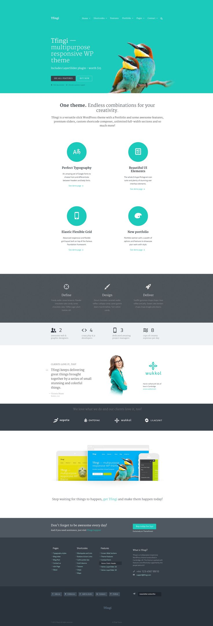 Awesome css designs - Tfingi Responsive Multipurpose Wordpress Theme Wordpress Theme Template Webdesign Webpage Website Site Design Html Css Blog Responsive Mobile