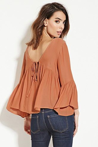 Contemporary Shirred Blouse | Forever 21 - 2000151281