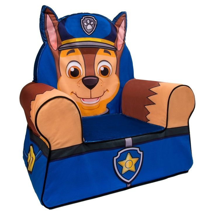 Marshmallow Comfy Chair Paw Patrol - Chase, Fire Engine
