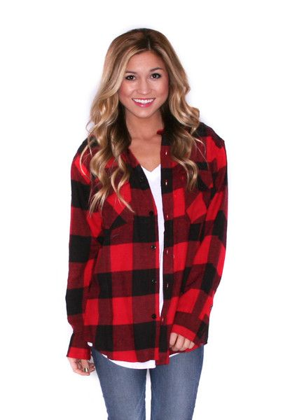 COZY FOR DAYS UNISEX FLANNEL RED $ 29.00