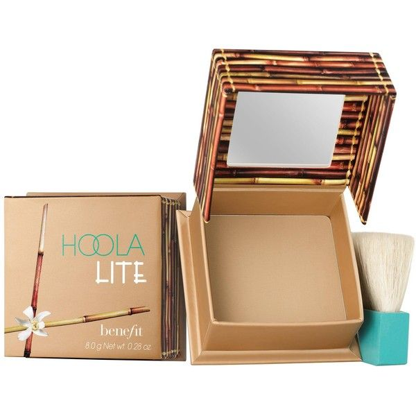 Benefit Hoola Lite Matte Bronzer ($38) ❤ liked on Polyvore featuring beauty products, makeup, cheek makeup, cheek bronzer, light bronze and benefit perfume