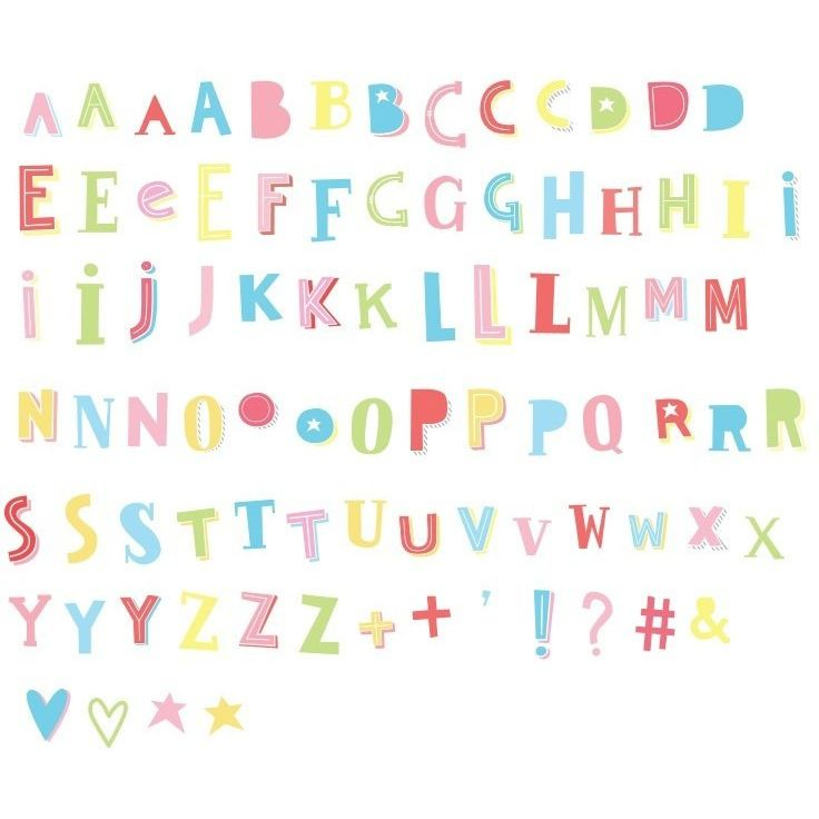 A Little Lovely Company Lightbox letter Set: Funky Colors