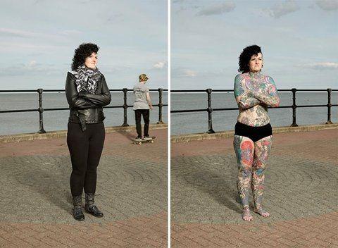 Fotograaf Alan Powdrill laat met zijn fotoserie zeer verschillende mensen zien die in elk geval n ding gemeen hebben het zijn allen tattoo liefhebbers. Hij fotografeert ze met