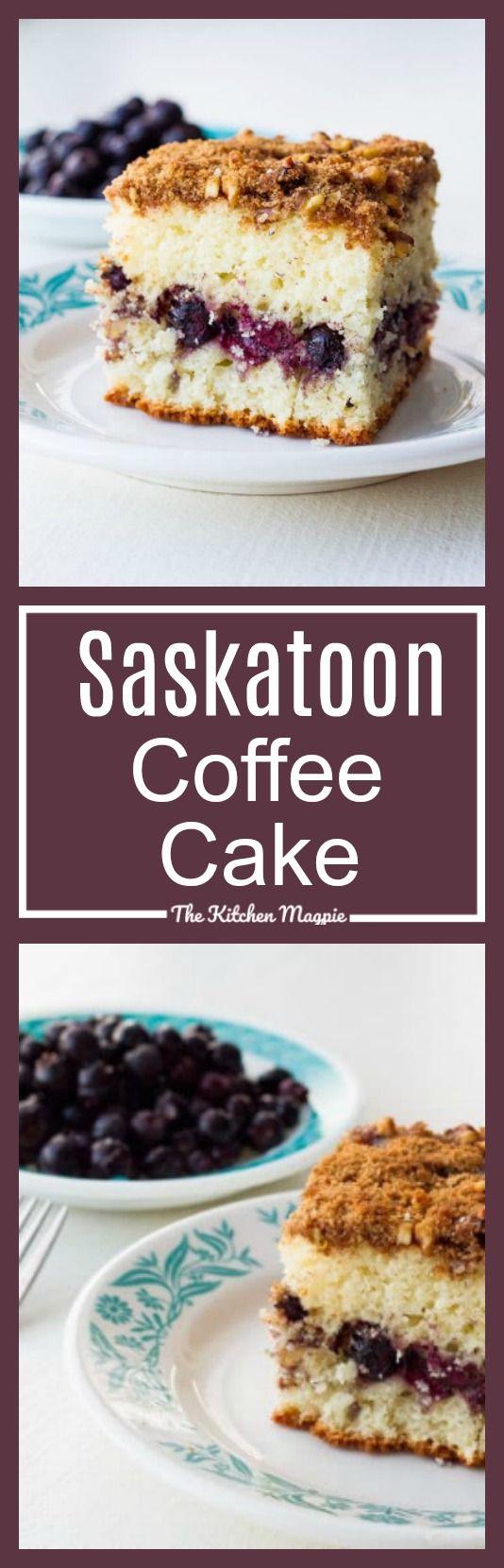Saskatoon Coffee Cake - The Kitchen Magpie