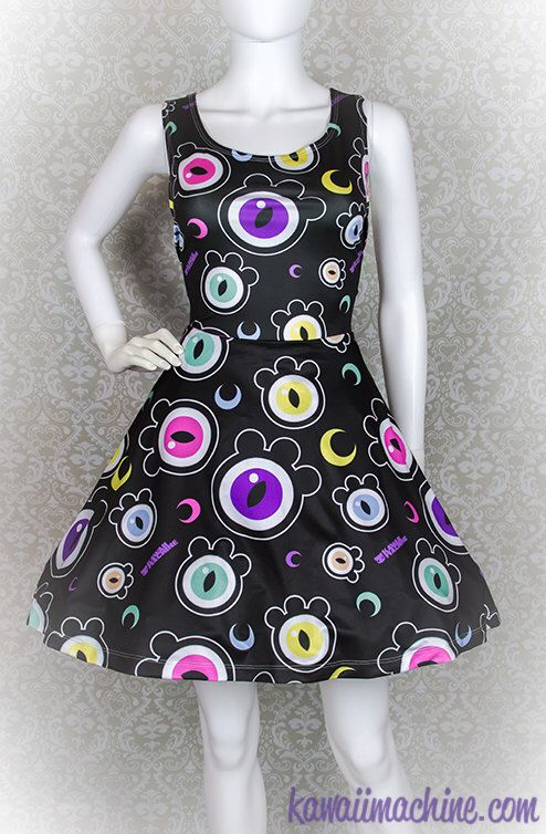 The Eyes Have It Creepy Cute Eyeballs Skater Dress Fairy Kei Pastel Goth Kawaii by thekawaiimachine on Etsy https://www.etsy.com/listing/226993225/the-eyes-have-it-creepy-cute-eyeballs