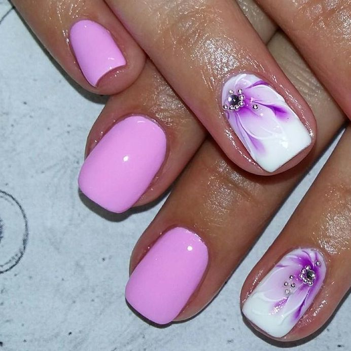easy cute bright summer nail