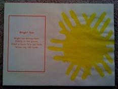 Hand Print August Calendar & Poem