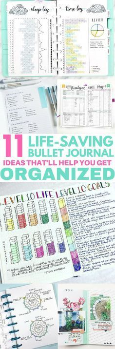 These 11 Bullet Journal Ideas Are AMAZING! I love the budget planning and goal organizer!