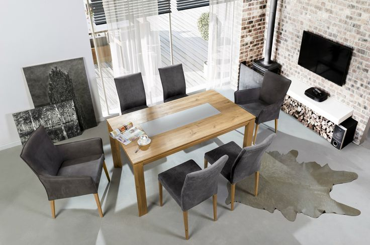 Looks like we've got 50 shades of grey... matter :-) Modern furniture from Klose. #KloseFurniture #Moderninterior #woodentable #modernarmchair