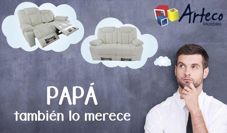 Muebles Arteco Pereira te trae este mes de padres un confortable sofá reclinable, con un descuento del 20% para que este mes #consientasapapa ANTES $ 2.793.750 AHORA $ 1.860.000=  Tels: 337 77 80 whatsapp 315-286 39 50