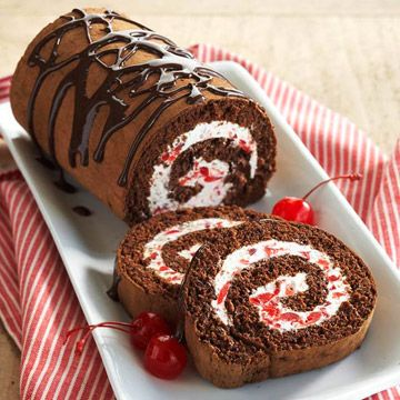 Cherry angel cake roll recipe