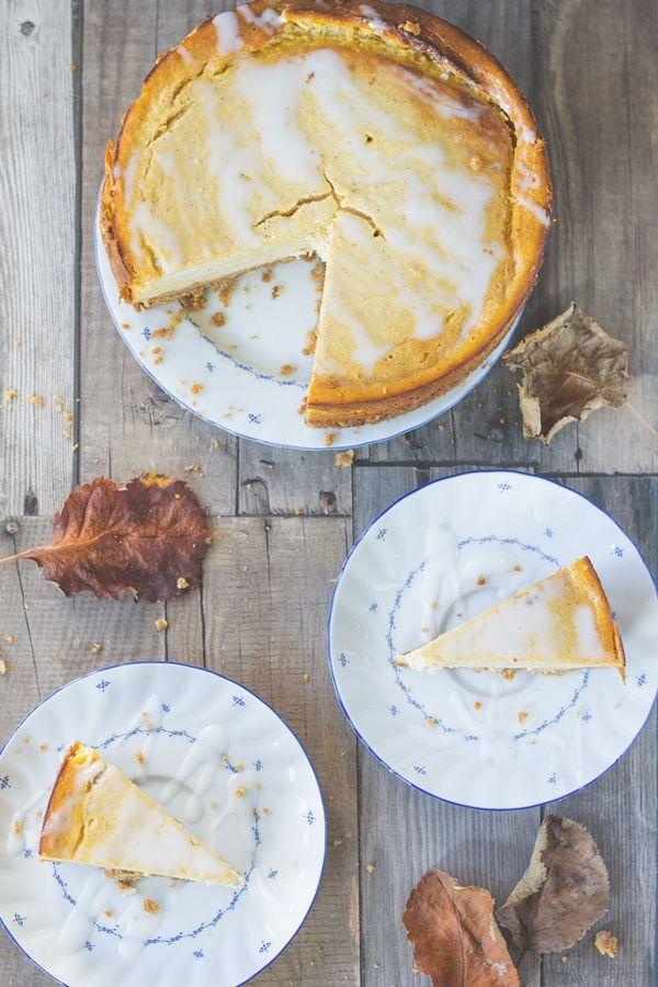 pumpkin cheesecake, kürbis käsekuchen