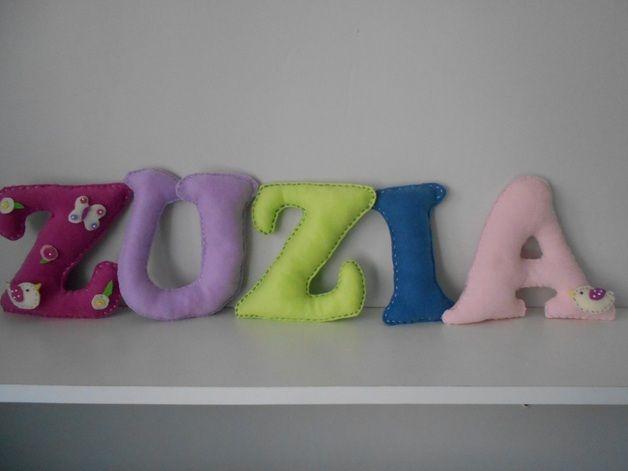 Litery 3 D - WielgusJoanna - Dekoracje pokoju dziecięcego