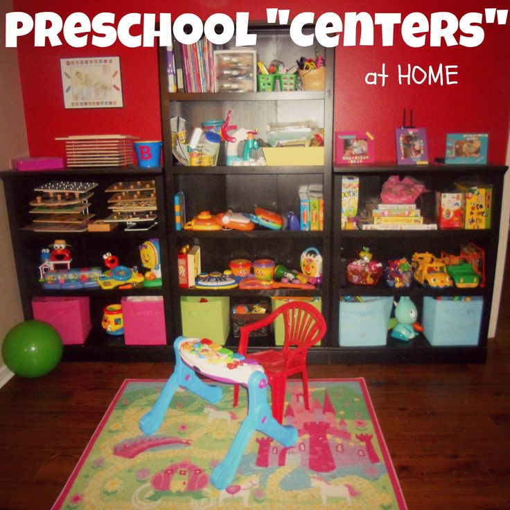 Preschool Centers at HOME. I need to start doing this!