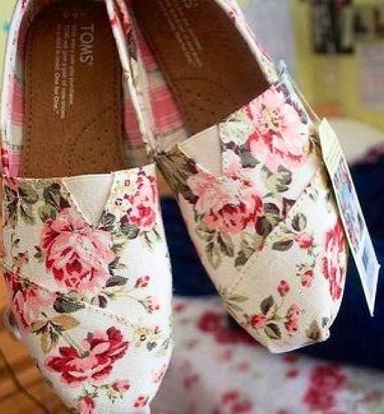 Gold, lace or vintage floral flats