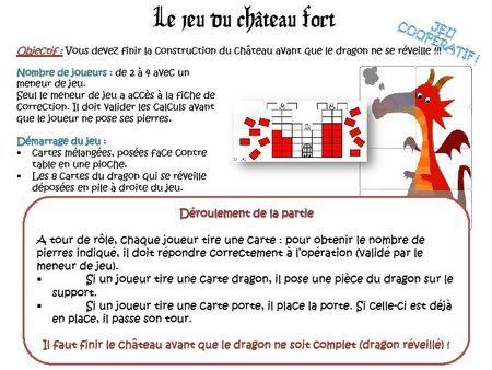 Le château fort : jeu sur les multiplications