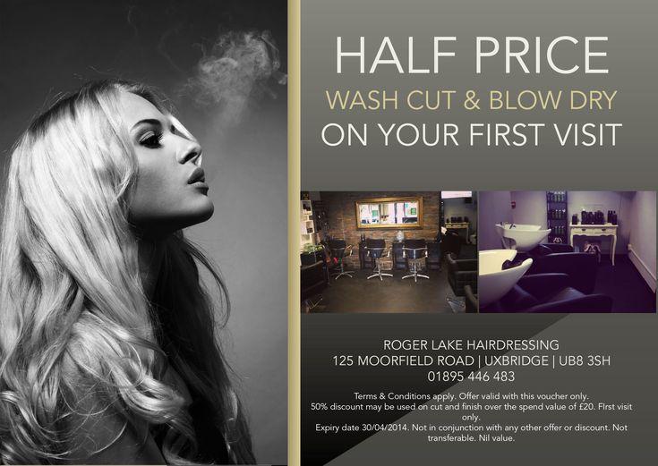 Hair salon flyer offering discounts hair stylist for Salon emarketing