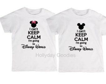 DIY Youth I can't keep calm I'm going to Disney Land Disney World vacation Vinyl heat transfer decal for shirt