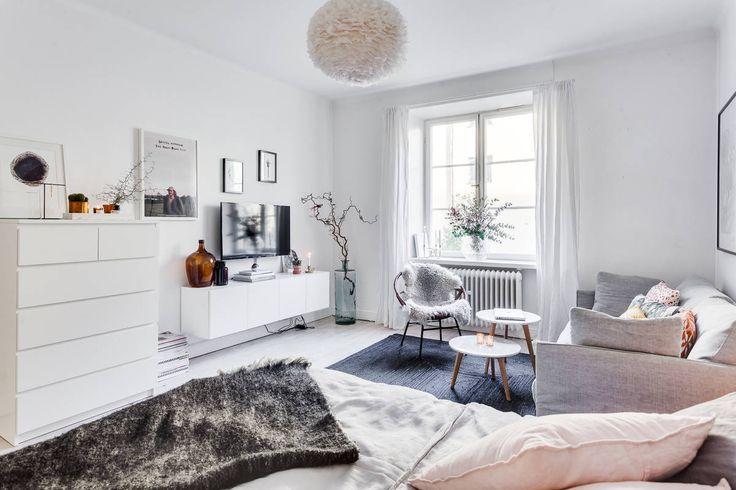Feminine studio apartment in Stockholm |Alexander White | Sweden | Scandinavian interior