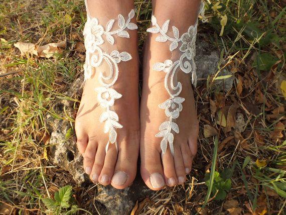 plaj ayakkabıları, ÜCRETSİZ GEMİ Benzersiz tasarımı, gelinlik sandalet, kement sandalet, düğün gelinlik, fildişi aksesuarlar, giysisi, yaz giyim