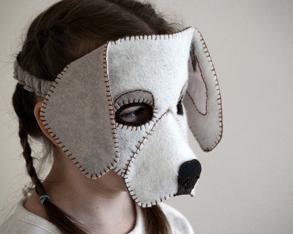 Dog Mask PDF Pattern by oxeyedaisey on Etsy