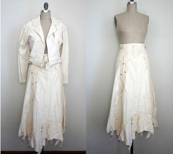 Native American Wedding Dresses: Vintage Buckskin Traditional Native American Two Piece