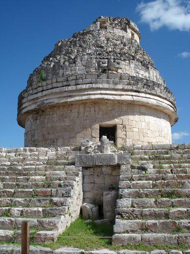El Caracol, observatorio astronómico de la cultura maya., Chichen Itza, Yucatán, México