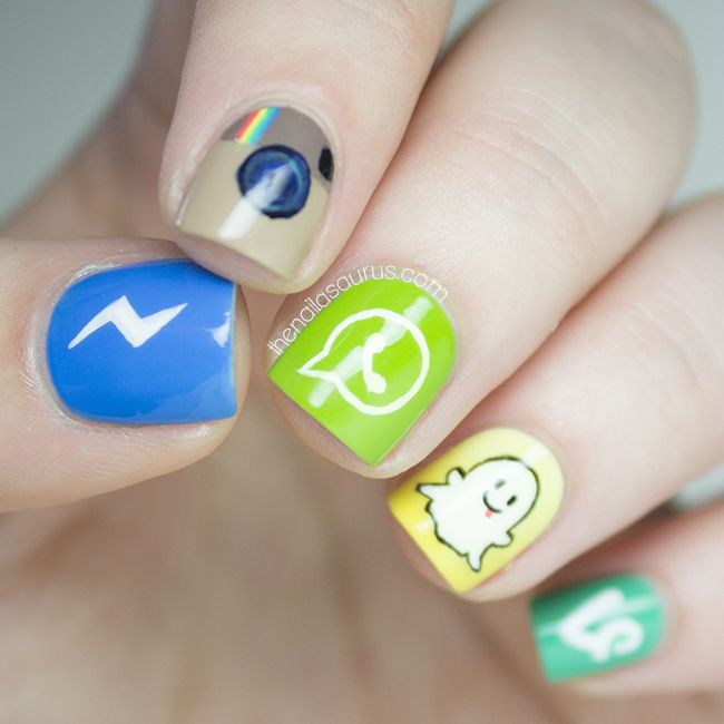 Sammy / 30th May 2014Social Media Apps Nail ArtSocial Media Apps Nail Art | The …