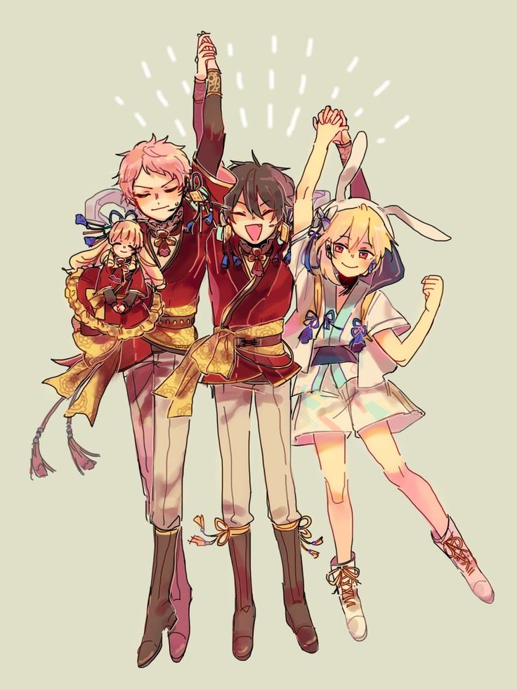 Ensembles stars Mika and Shu and Nito