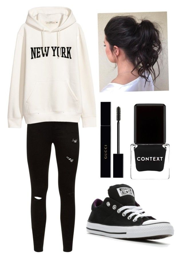 cab3ae71eade70 How to wear converse. by movetotherythem on Polyvore featuring polyvore,  Converse, Gucci, Context, fashion, style and clothing