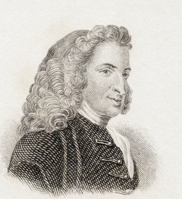 """""""Henry Fielding's new book was all the rage"""" (Ross Poldark 3, iii). Was Winston Graham mistaken in including this detail? The novel setting is currently in the year 1787; Fielding died in 1754. Pictured: engraving of Henry Fielding dated 1825, artist unknown. [image: magnoliabox.com]"""