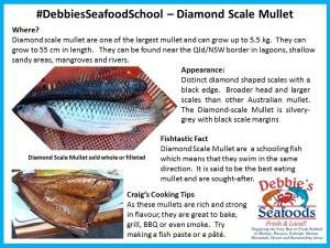 Tiger or Diamond Scaled Mullet at #DebbiesSeafoodSchool #EatMoreFish