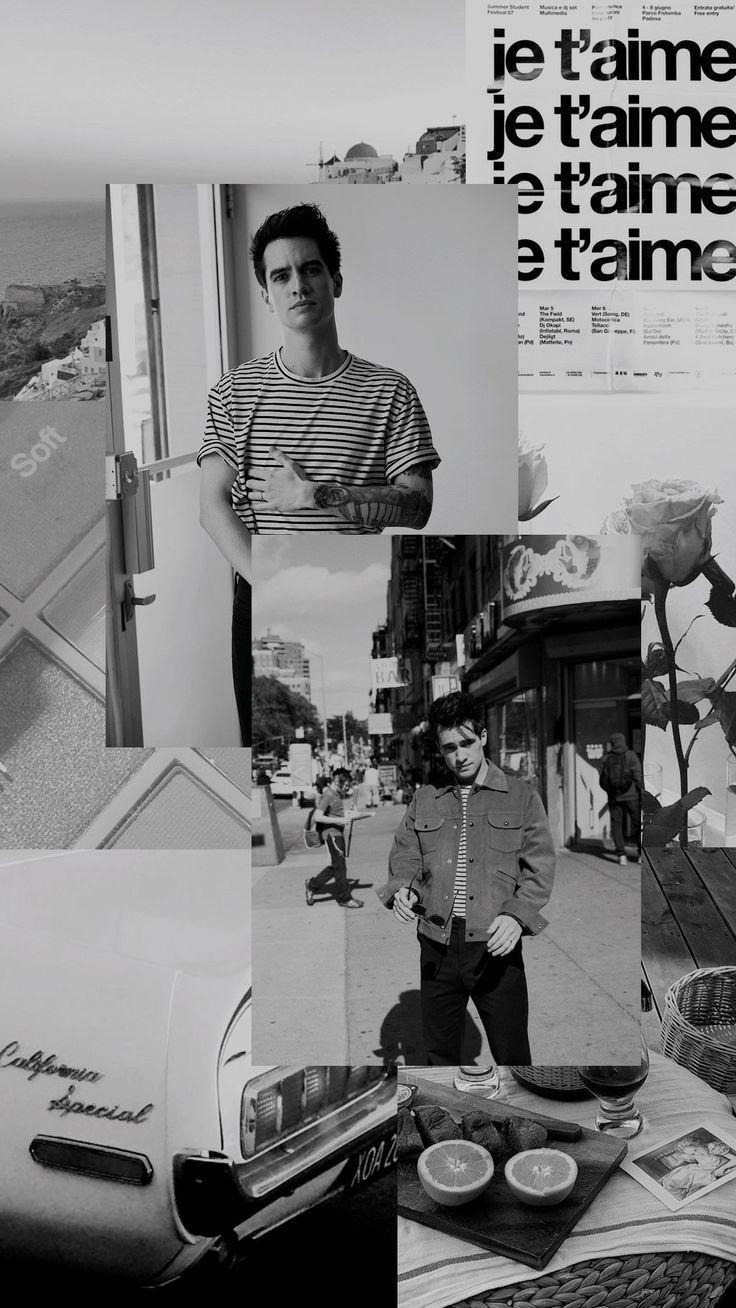 Brendon Urie Black White Wallpaper Tumblr Brendon Urie
